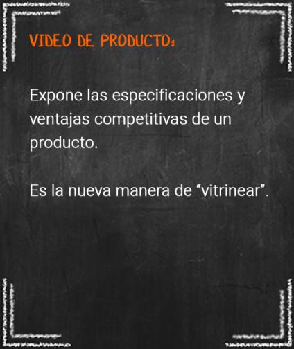 3. video de producto