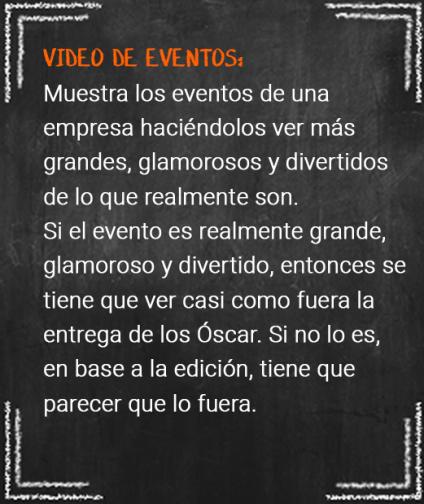 4. video de eventos