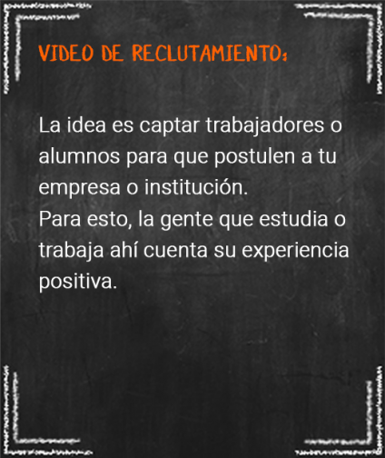5. video de reclutamiento